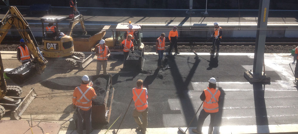 Spencer Asphalting, Sydney - Asphalt resurfacing of train platforms