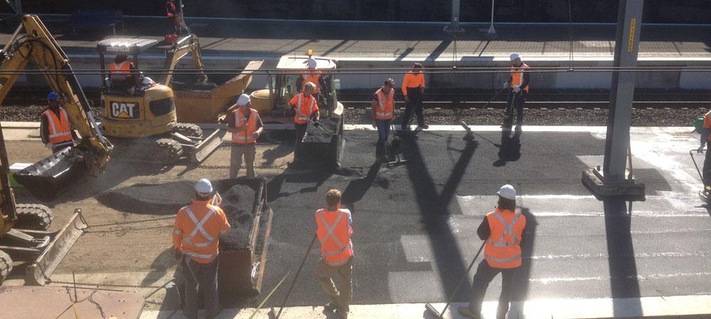 Spencer Asphalting, Sydney - Asphalt resurfacing of train platforms